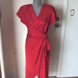 Vintage silk sexy dress